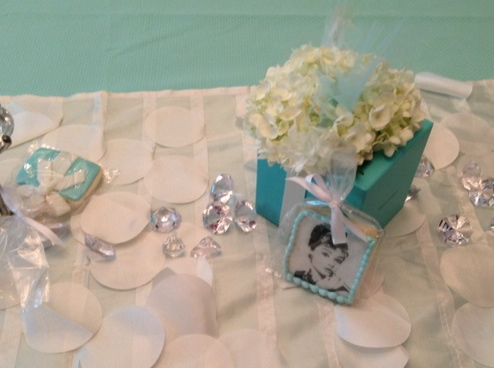 decorated cookie breakfast at tiffanys cookies edible party favors bridal shower favors