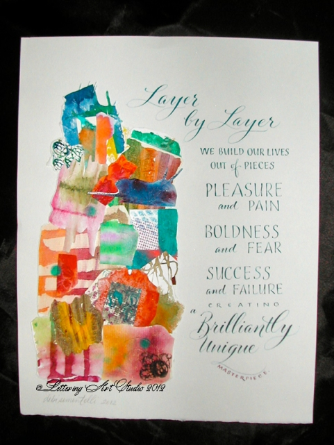 Calligraphy, Hand lettering, watercolor, sayings in calligraphy, Lettering Art Studio, Debi Sementelli