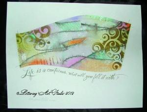 Calligraphy, hand lettering, sayings in calligraphy, Debi Sementelli, Lettering Art Studio