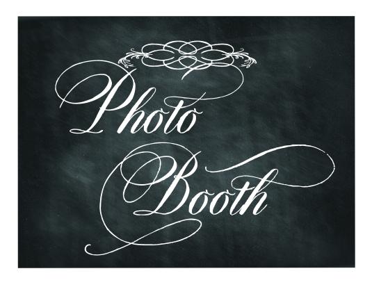 free wedding chalkboard photo booth sign lettering art studio. Black Bedroom Furniture Sets. Home Design Ideas