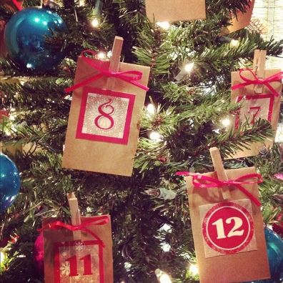 DIY Advent Tree, Christmas tree, Advent Calendar