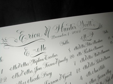 Calligraphy Seating Chart, Calligraphy, Wedding Seating Chart, Wedding Signs, Calligraphy font, Cursive font, Script font