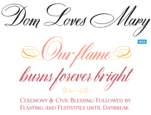 Dom Loves Mary cursive font, calligraphy font, cursive font, script font, wedding font, hand lettered font, calligraphy font, Holiday Printables, Holiday cards in Calligraphy