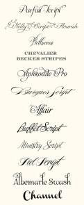 Top Wedding Fonts of 2012, Belluccia,  cursive font, script font, fancy font, wedding font, hand lettered font