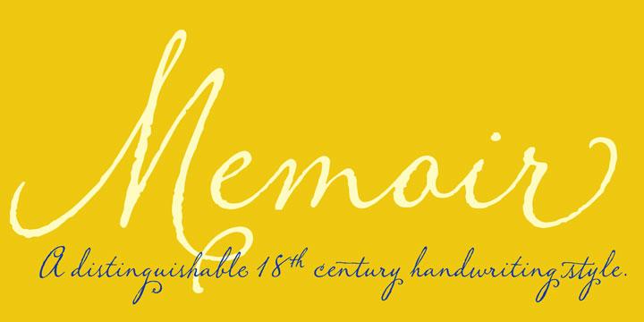 Memoir script font, script font, vintage font, calligraphy font, cursive font, fancy font, wedding font, hand lettered font, font for invitations, fonts by Stephen Rapp