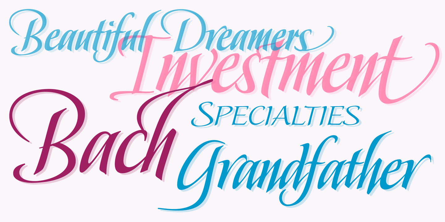 Beautiful Calligraphy Fonts By Stephen Rapp