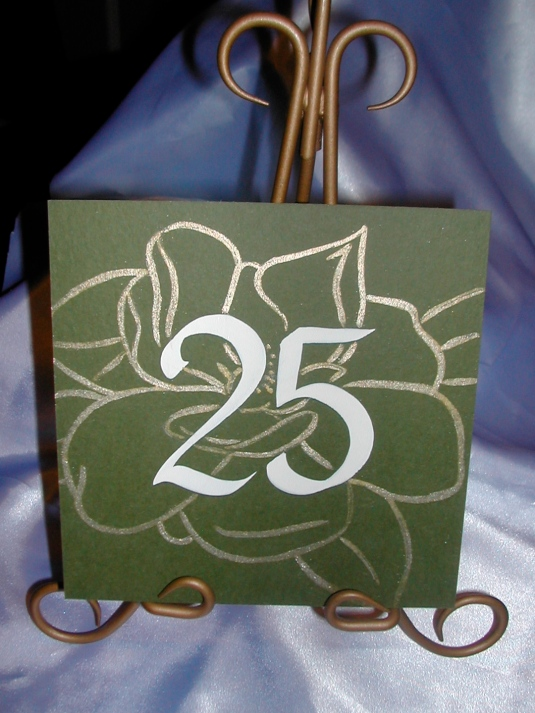 DIY Wedding, DIY Table Number tutorial, DIY Table Number, Flower Table Number, Calligraphy on Table Numbers, Calligraphy, Calligraphy fonts, Wedding fonts, wedding signs
