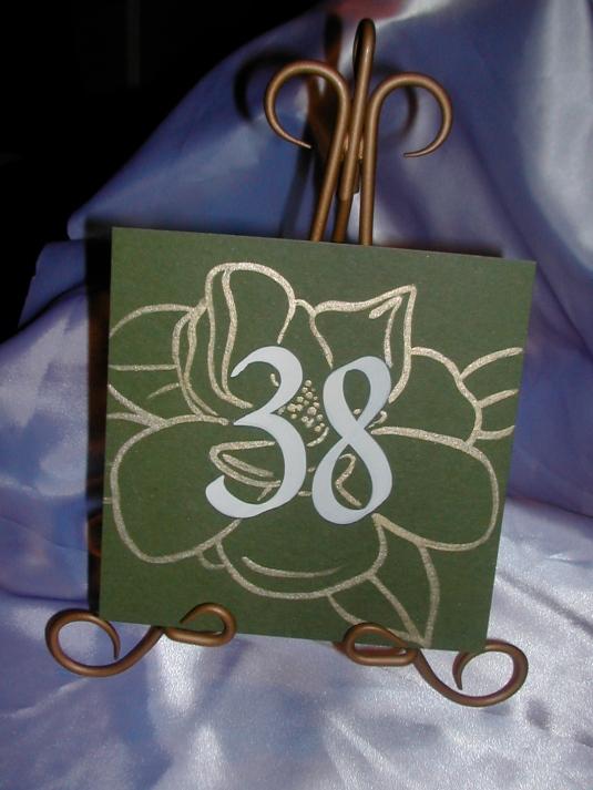 DIY Wedding, DIY Table Number tutorial, DIY Table Number, Flower Table Number, Calligraphy on Table Numbers, Calligraphy, Calligraphy fonts, Wedding fonts, wedding signs